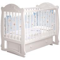 Кровать-манеж Можгамебель Мишутка 3 Белая с ящиком