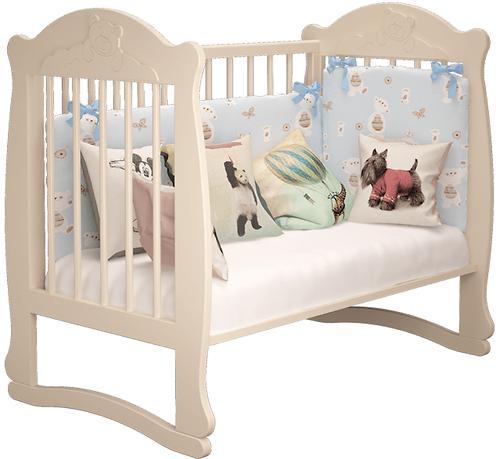 Кровать-манеж Можгамебель Мишутка 2 Белая без ящика (9)