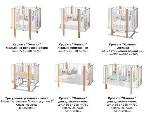 Кровать-трансформер Можгамебель Оливия с комплектом расширения Белая-Бук (16)