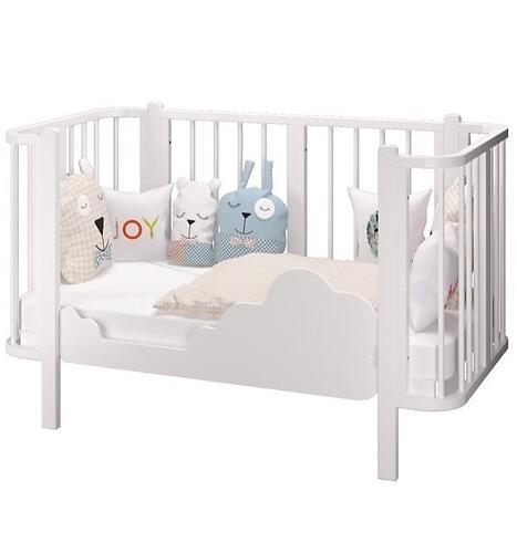 Кровать-трансформер Можгамебель Оливия с комплектом расширения Белая (11)