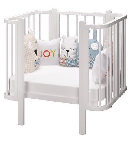 Кровать-трансформер Можгамебель Оливия с комплектом расширения Белая (14)