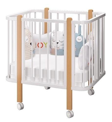 Кровать-трансформер Можгамебель Оливия с комплектом расширения Белая-Бук (14)