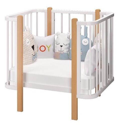Кровать-трансформер Можгамебель Оливия с комплектом расширения Белая-Бук (15)