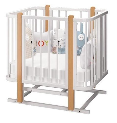 Кровать-трансформер Можгамебель Оливия с комплектом расширения Белая-Бук (13)