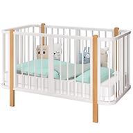 Кровать-трансформер Можгамебель Оливия с комплектом расширения Белая-Бук