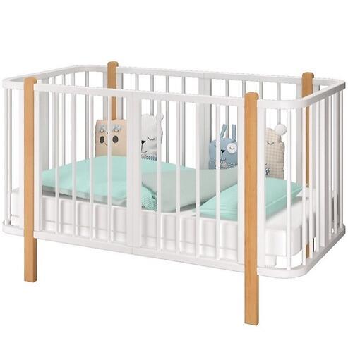 Кровать-трансформер Можгамебель Оливия с комплектом расширения Белая-Бук (10)