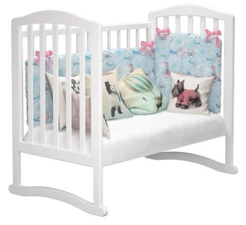Кроватка Можгамебель Пикколо Белая (10)