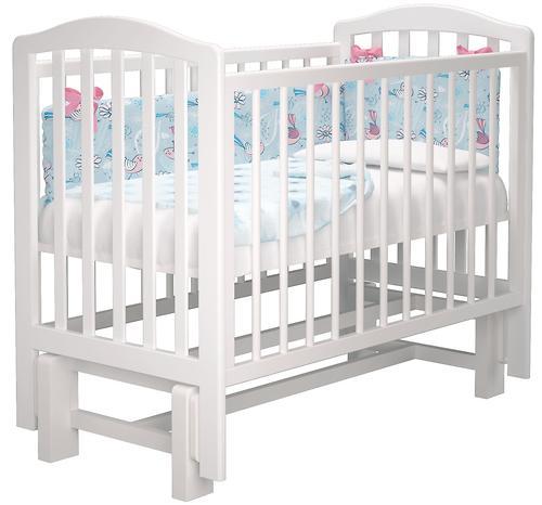 Кроватка Можгамебель Пикколо Белая (7)