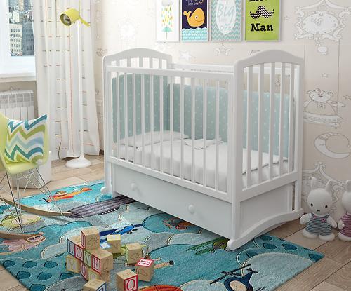 Кроватка Можгамебель Пикколо Белая (11)