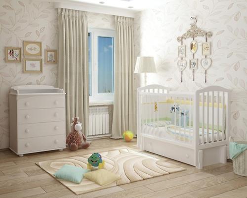 Кроватка Можгамебель Пикколо Белая (12)
