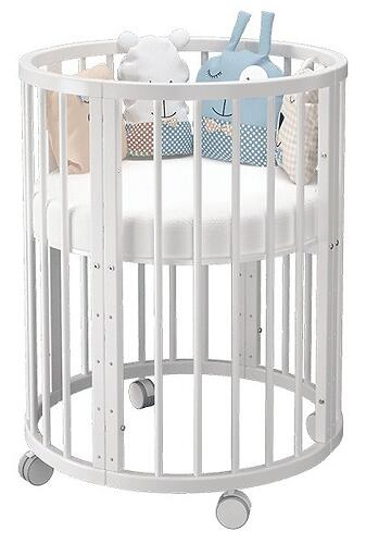 Кроватка овальная Сильвия Белая (6)