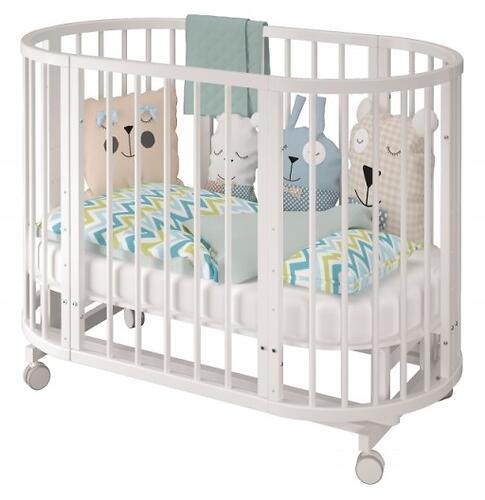 Кроватка овальная Сильвия Белая (7)