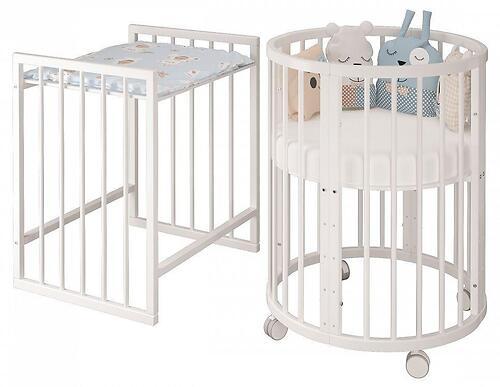 Кроватка овальная Сильвия Белая (9)