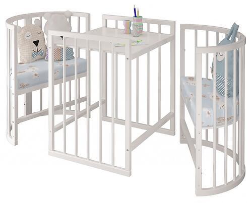 Кроватка овальная Сильвия Белая (10)