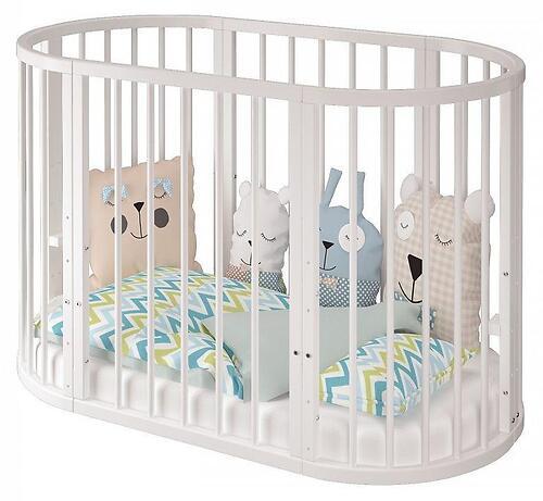 Кроватка овальная Сильвия Белая (8)