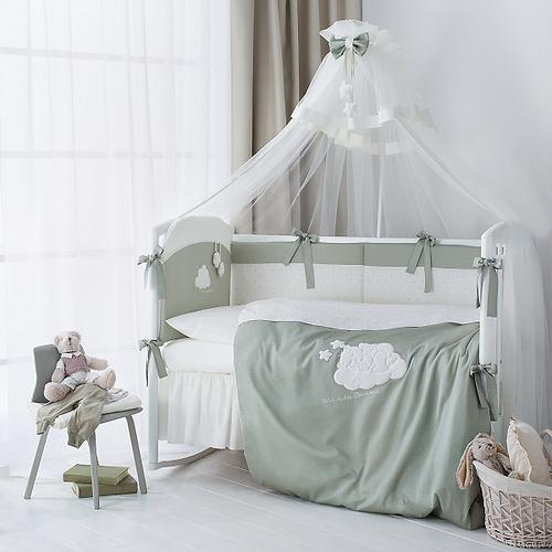 Комплект в кроватку Perina Бамбино 4 предмета Олива (4)