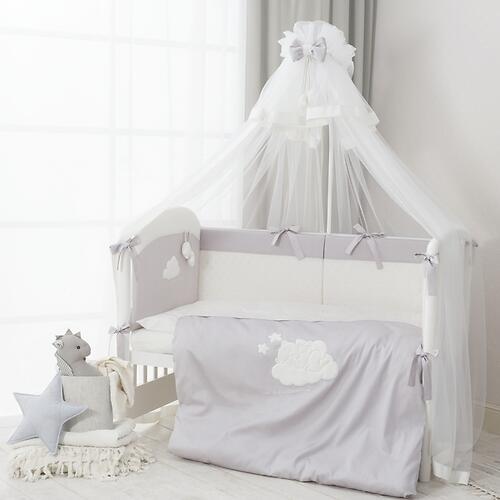Комплект в кроватку Perina Бамбино 4 предмета Грей (6)