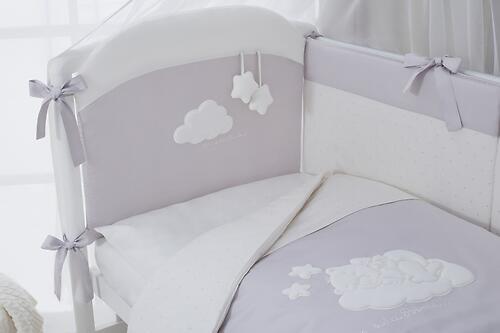 Комплект в кроватку Perina Бамбино 4 предмета Грей (7)