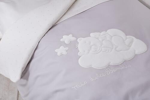 Комплект в кроватку Perina Бамбино 4 предмета Грей (8)
