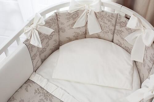 Комплект в кроватку Perina Elfetto Oval 6 предметов Молочно-Белый (4)