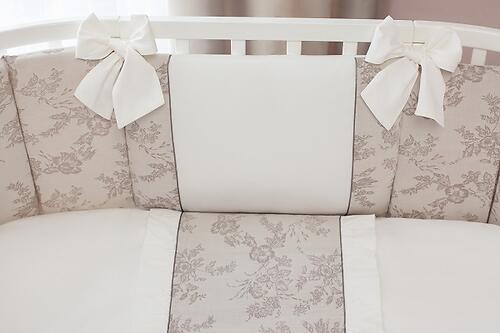 Комплект в кроватку Perina Elfetto Oval 6 предметов Молочно-Белый (5)