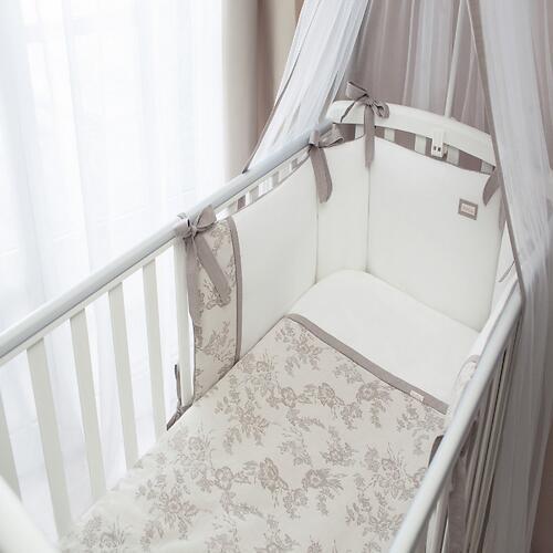 Комплект в кроватку Perina Elfetto 6 предметов Молочно-Белый (5)