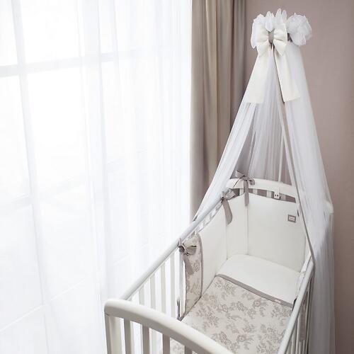 Комплект в кроватку Perina Elfetto 6 предметов Молочно-Белый (6)