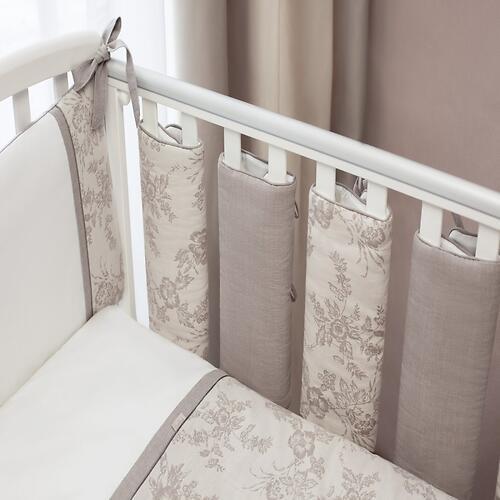 Защита для кровати Стик-борта 5шт Perina Elfetto Молочно-Белый (3)