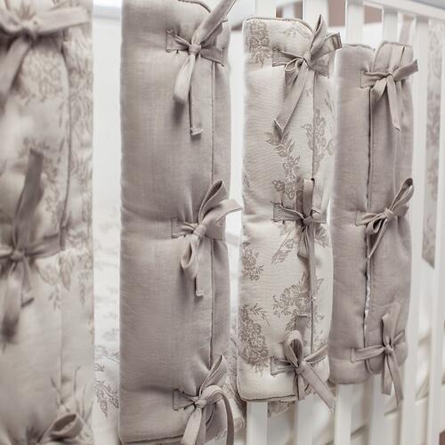 Комплект в кроватку Perina Elfetto 6 предметов Молочно-Белый (8)