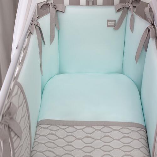 Комплект в кроватку Perina Elfetto 6 предметов Мятный (8)
