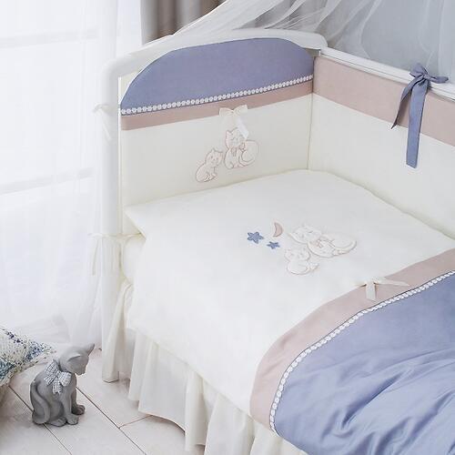 Комплект в кроватку Perina Котята Лазурь 4 предмета (5)