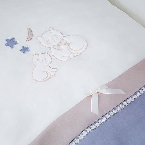 Комплект в кроватку Perina Котята Лазурь 4 предмета (6)
