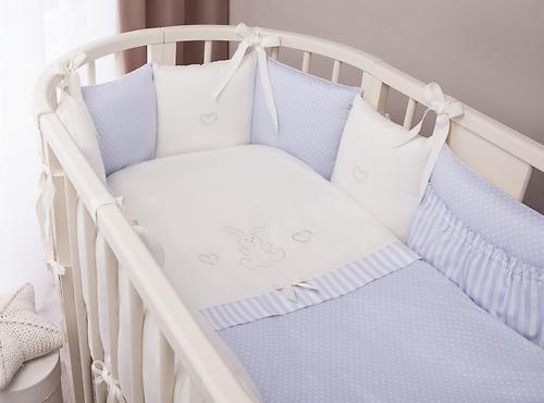 Комплект в кроватку Perina Неженка Oval 7 предметов НО7.4-125х75 Голубой (6)