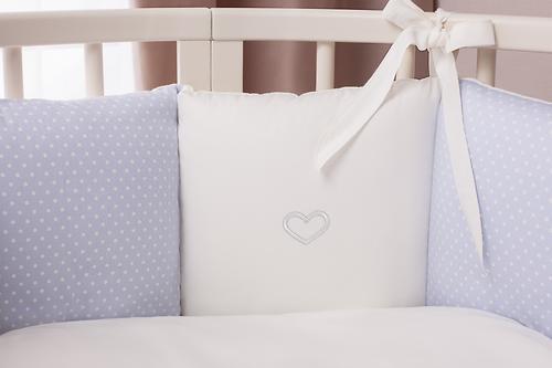 Комплект в кроватку Perina Неженка Oval 7 предметов НО7.4-125х75 Голубой (9)