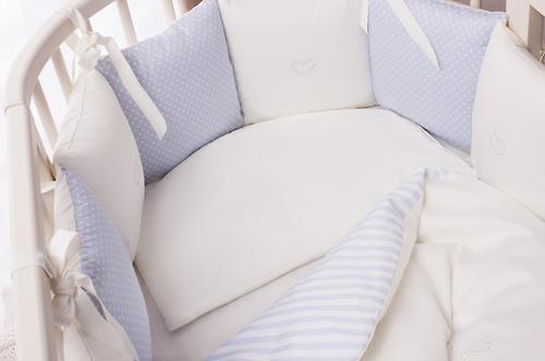 Комплект в кроватку Perina Неженка Oval 7 предметов НО7.4-125х75 Голубой (7)