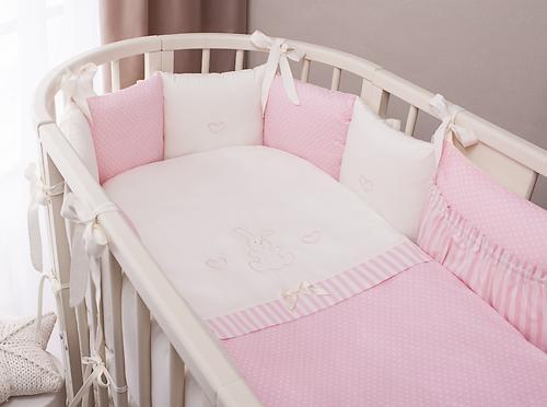 Комплект в кроватку Perina Неженка Oval 7 предметов НО7.3-125х65 Розовый (6)