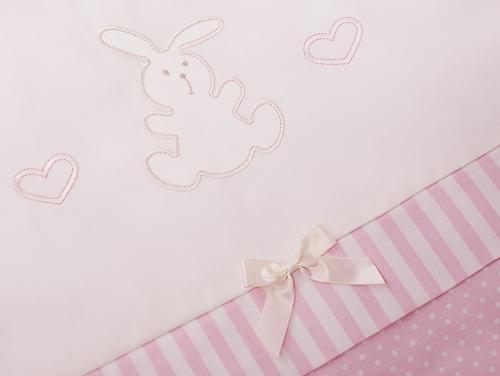 Комплект в кроватку Perina Неженка Oval 7 предметов НО7.3-125х65 Розовый (10)