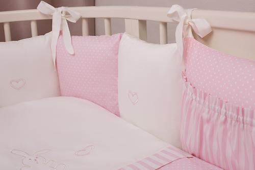 Комплект в кроватку Perina Неженка Oval 7 предметов НО7.3-125х65 Розовый (8)