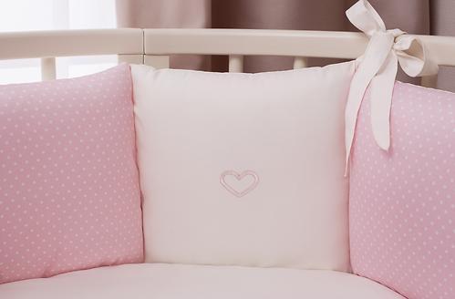 Комплект в кроватку Perina Неженка Oval 7 предметов НО7.3-125х65 Розовый (9)