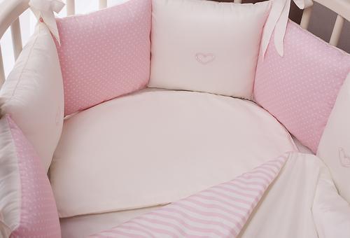 Комплект в кроватку Perina Неженка Oval 7 предметов НО7.3-125х65 Розовый (7)