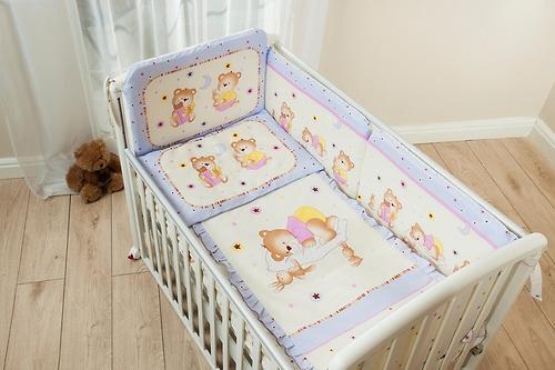 Комплект в кроватку Perina Ника Мишка на подушке Бежевые 4 предметов (6)