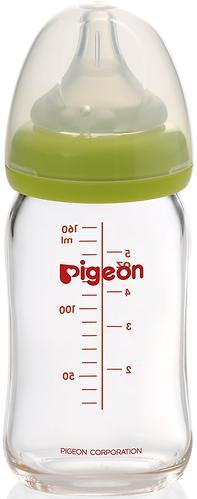Бутылочка Pigeon Перистальтик Плюс стеклянная 160 мл (4)