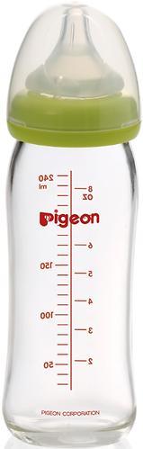 Бутылочка Pigeon Перистальтик Плюс стеклянная 240 мл (4)