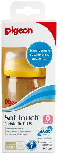 Бутылочка Pigeon для кормления Перистальтик Плюс Soft Touch PPSU 160мл (5)