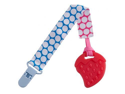 Прорезыватель Roxy Kids на держателе Голубой-Розовый кружочек (4)