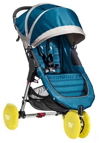 Чехлы на колеса Roxy в сумке 20 см Желтые 4шт/уп (5)