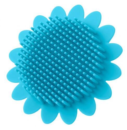 Губка для тела Roxy Kids силиконовая Подсолнух Голубая (7)