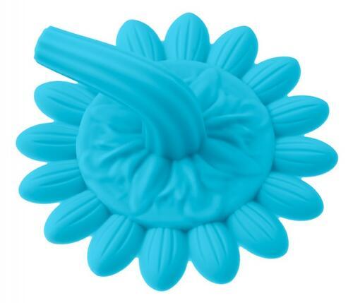 Губка для тела Roxy Kids силиконовая Подсолнух Голубая (8)