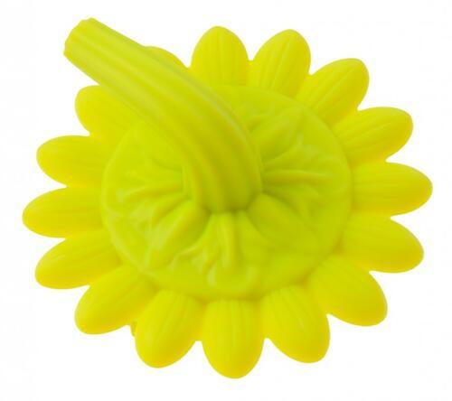 Губка для тела Roxy Kids силиконовая Подсолнух Салатовая (8)