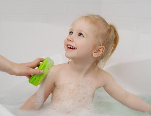 Губка для тела Roxy Kids силиконовая Салатовая (9)